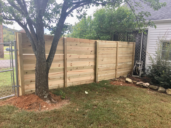 Custom Horizonal Wooden Privacy Fence