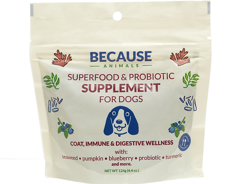 Because Animals - Superfood & Probiotic Supplement for Dogs