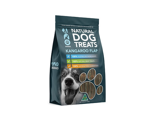 Uno Doggo Kangaroo Flab - Natural Dog Treats 250g