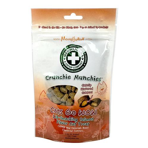 Crunchie Munchie - Salmon Treats with Catnip Center