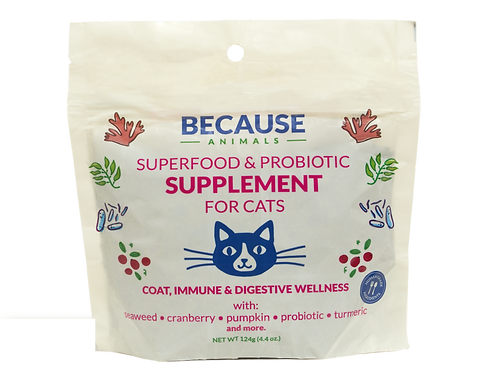 Because Animals - Superfood & Probiotic Supplement for Cats