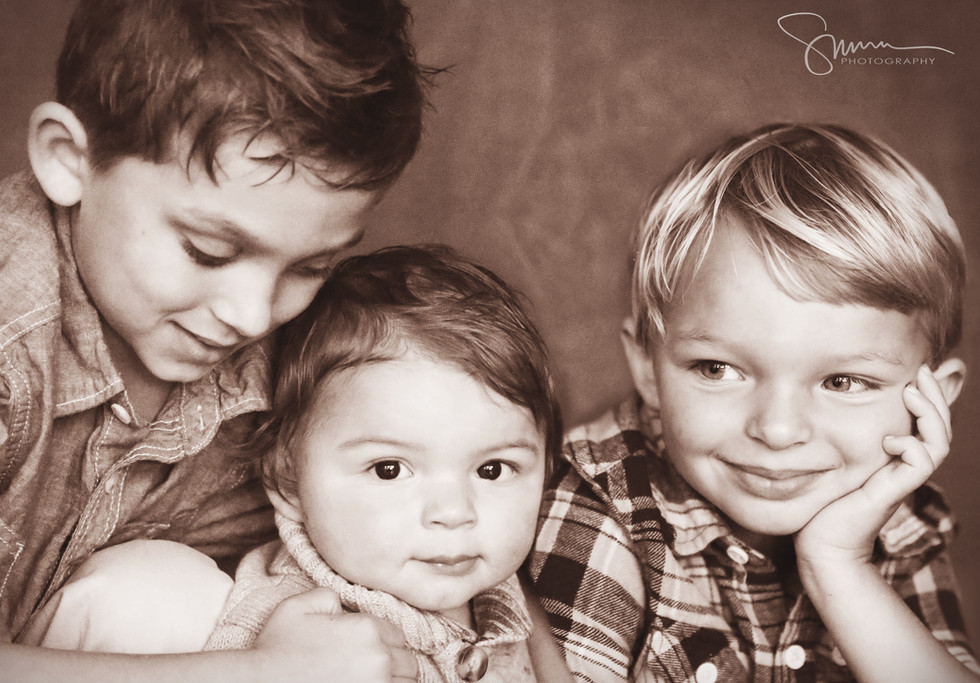 Family photo of the boys.