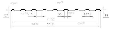 Размеры Профнастила НС20