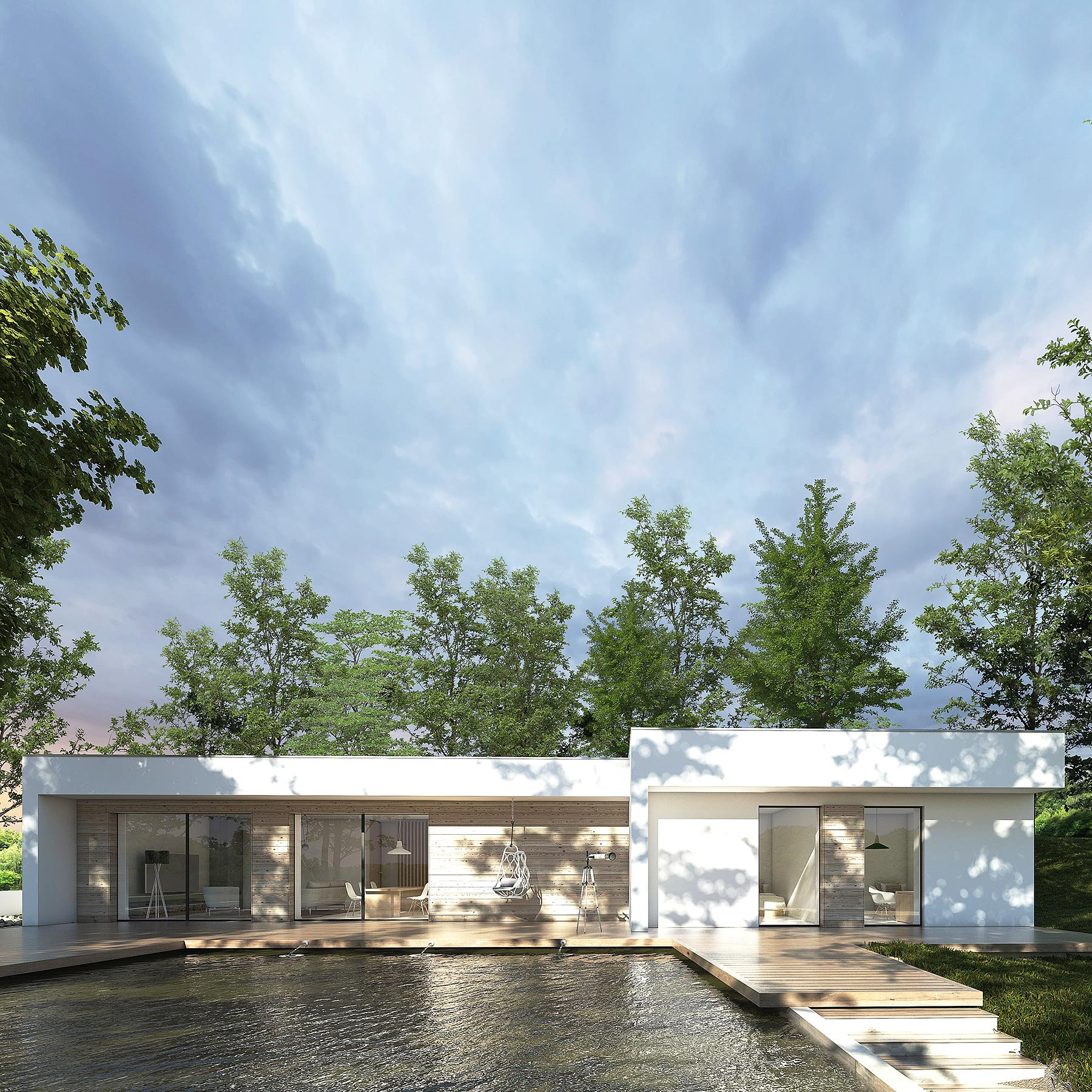 moderni_jednopodlazni_rodinny_dum_s_plochou_strechou_dream_homes_plavec_front