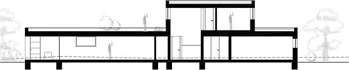 Moderní rodinná vila v Jihlavě řez DREAM HOMES PLAVEC
