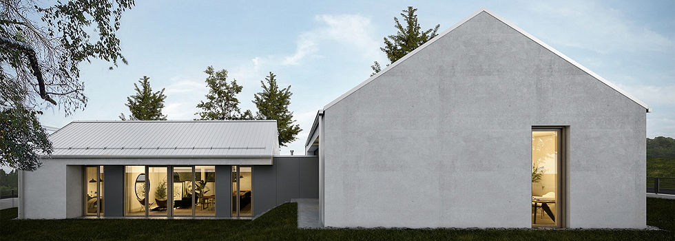 Vizualizace rodinného domu Jihlava Architektonická studie DREAM HOMES ARCHITECTURE.