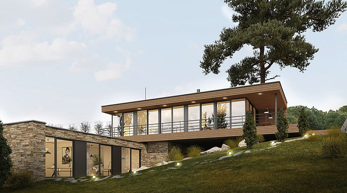 DREAM HOMES - sluzby - vizualizace - moderní rodinný dům - plavec
