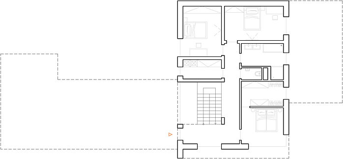 Moderní rodinná vila v Jihlavě půdorys patra DREAM HOMES PLAVEC