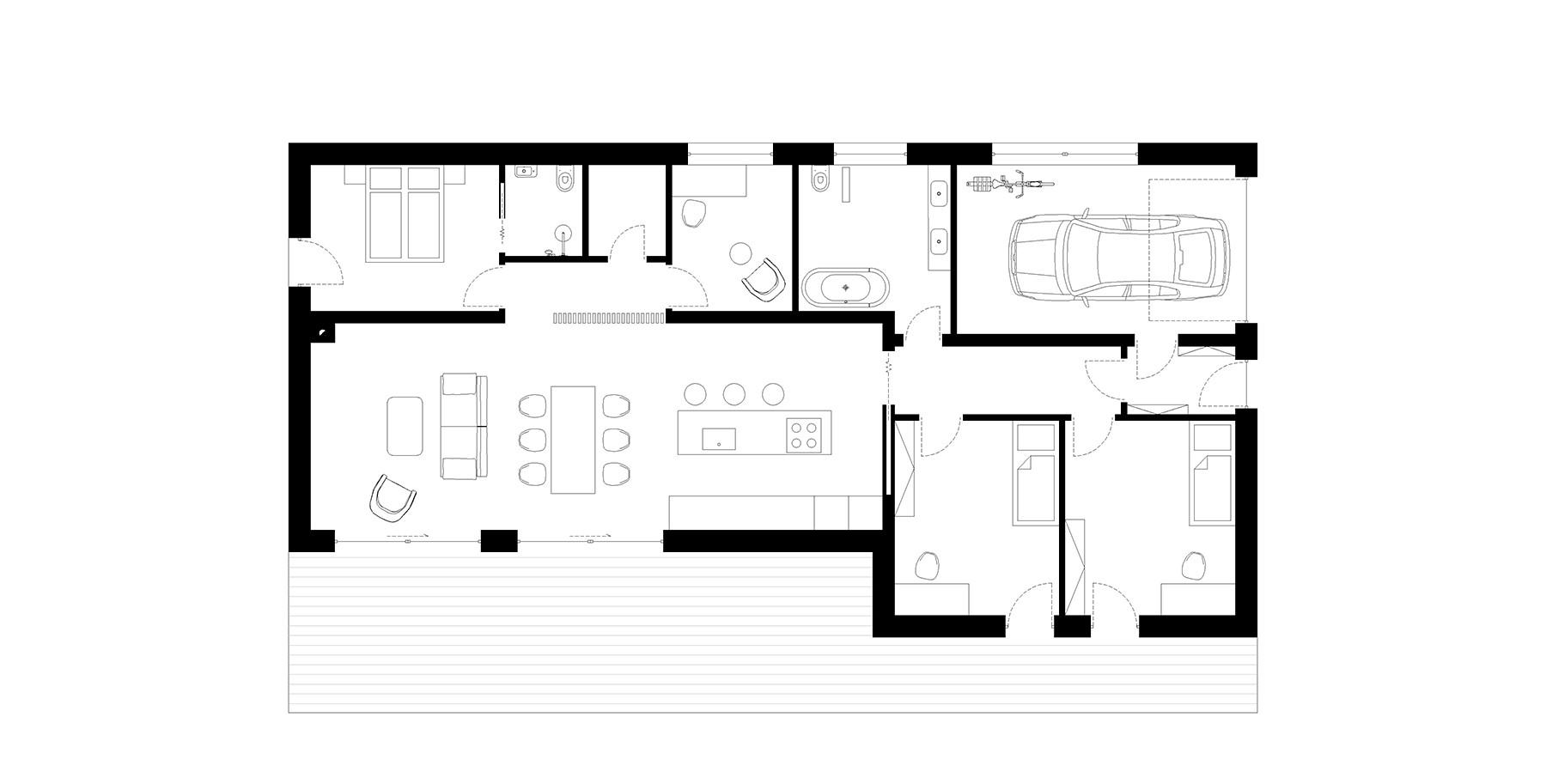 moderni_jednopodlazni_rodinny_dum_s_plochou_strechou_dream_homes_plavec_pudorys