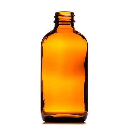 240ml Boston Amber Round Glass Bottle