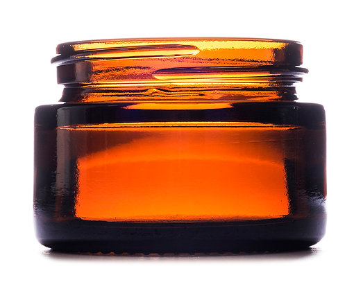 30ml Amber Squat Glass Jar