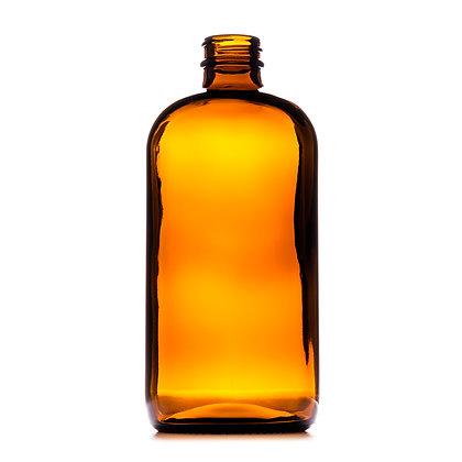 480ml Boston Amber Round Glass Bottle