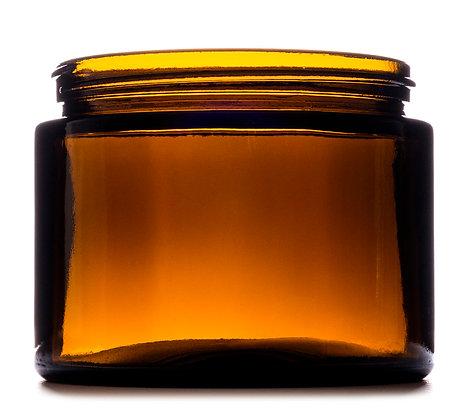 500ml Amber Squat Glass Jar