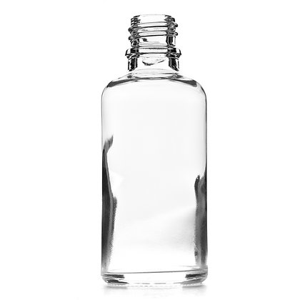 50ml Clear Glass Dropper Bottle
