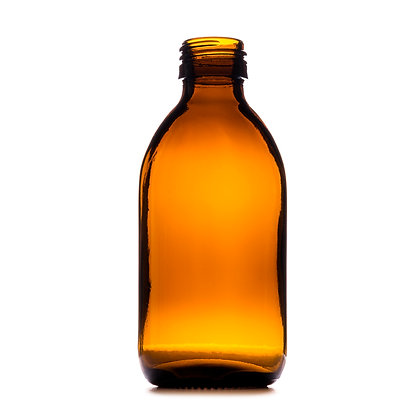 200ml Amber Medical Round Glass Bottle