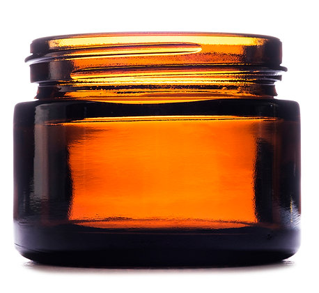 50ml Amber Squat Glass Jar