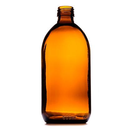 500ml Amber Medical Round Glass Bottle