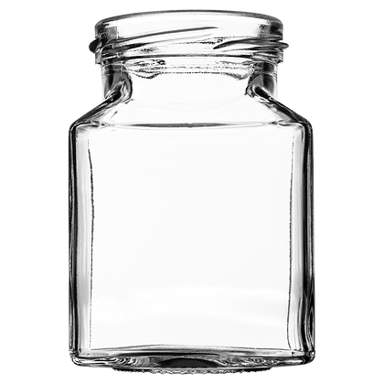 4oz (130ml) Square Wedding Favour Jars