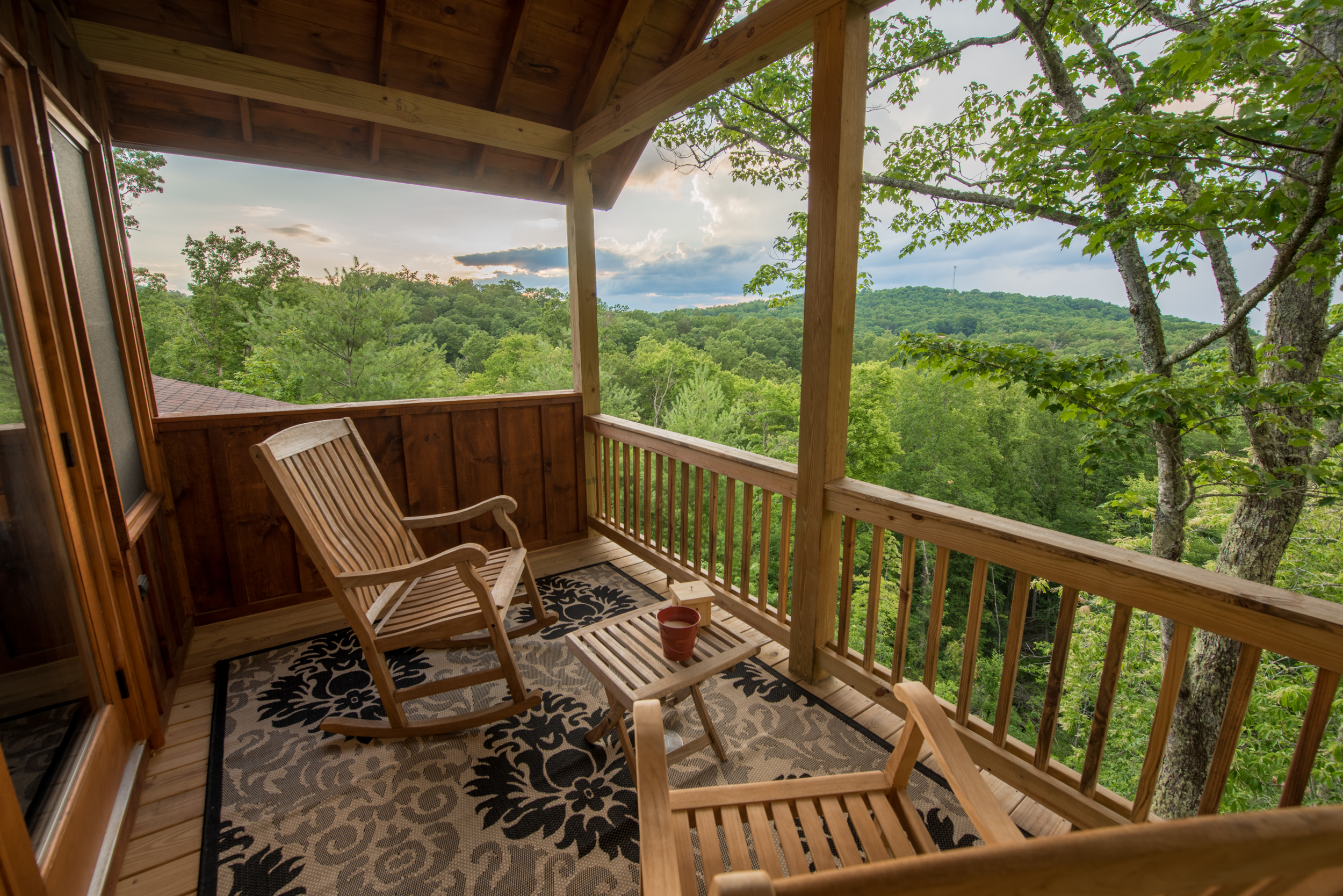 Master bedroom deck view