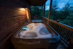 Hot tub and swings