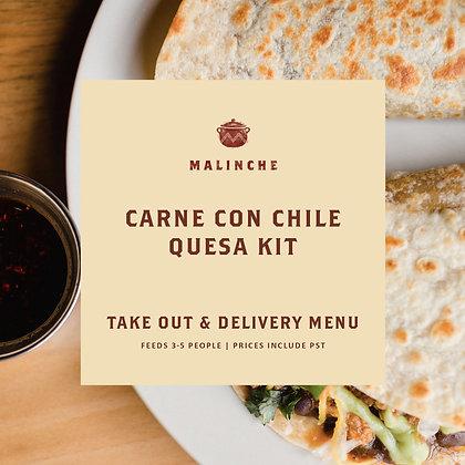 Malinche Carne Con Chile Quesa Kit