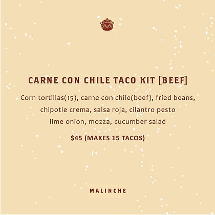 Carne Con Chile Taco Kit – Beef
