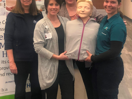 CPR training equipment supported by local businesses, nonprofits