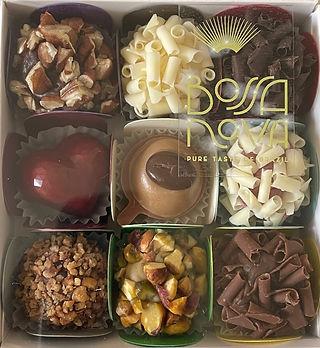A box of 9 Assorted Bossa Nova chocolates