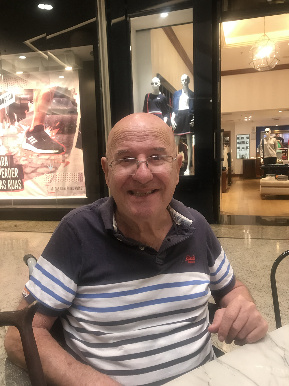 Dad in my last visit to Brazil
