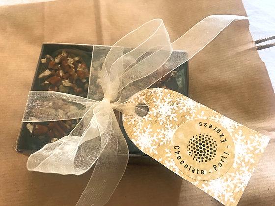 Vegan chocolate and roasted pecan truffles