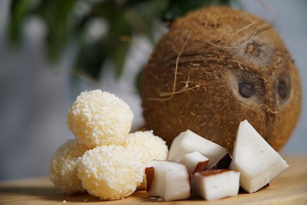 Brazilian coconut cream and white chocolate truffles