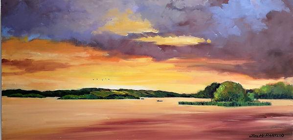 Panorama Sunset Lough Ramor.jpg
