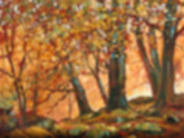 A painting of an Autumn Forest in Ireland