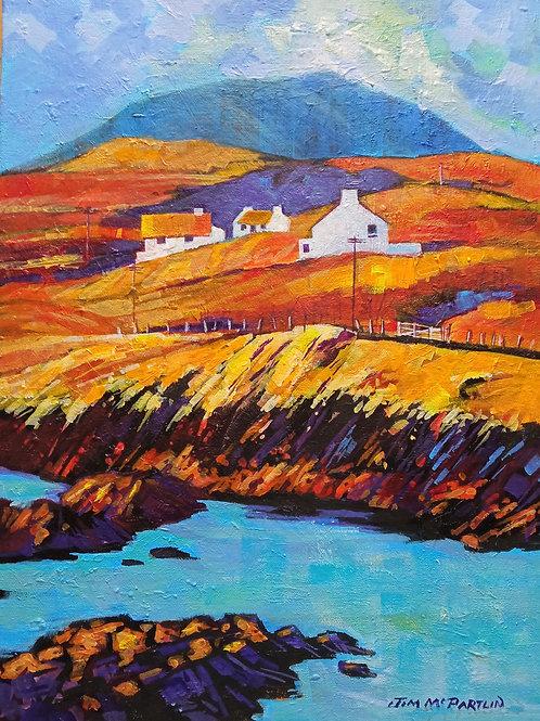 """Derry Herbert Harbour, near Renvyle, Co. Galway 16""""x12"""""""