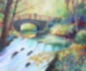 A painting of The Bridge in Dun a Ri Forest Park, Cavan, Ireland