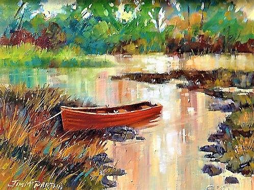 Red Boat on Lough Sheelin