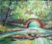 A painting of the Stone Bridge in Deerpark Forest, Virginia, Cavan, Ireland
