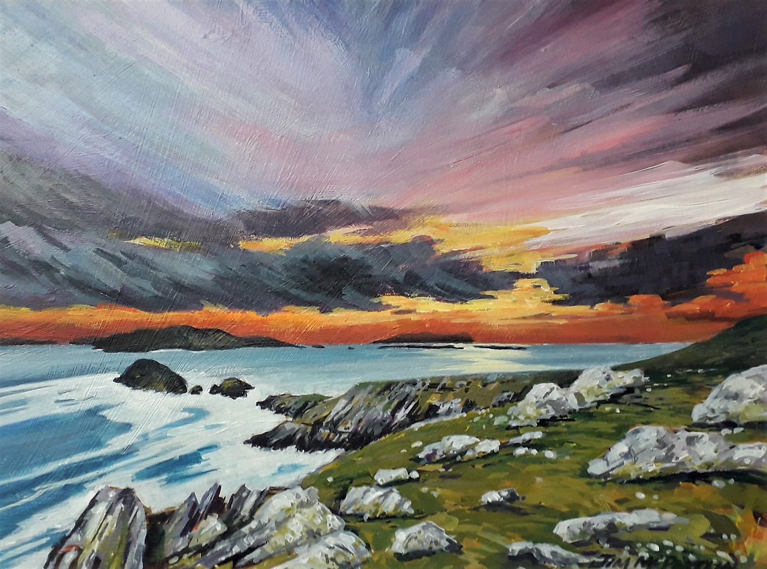 Painting of Slea Head, Dingle in Ireland