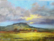 A painting of Culcaigh Mountain, Cavan, Ireland