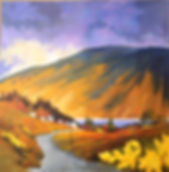 A painting of the road to Leenane in Galway, Ireland