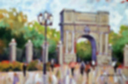 A painting of Fusileers Gate St. Stephens Green, Dublin, Ireland