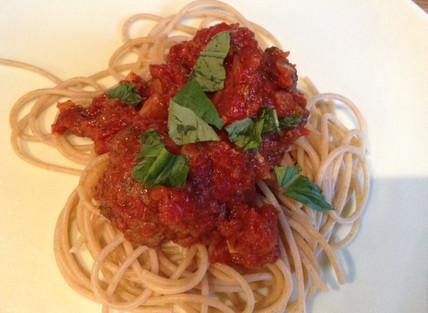 Easy to make meatballs and spaghetti