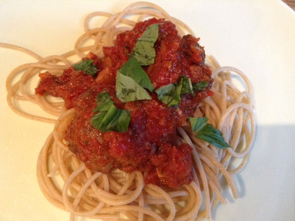 Easy to make meatballs and spaghetti