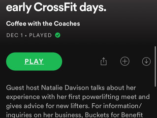Coffee With The Coaches #1.  We're on Spotify!!!!!!