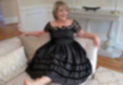 Ellen and the White Velvet Sofa
