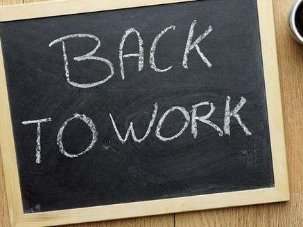 Retour au boulot !!!