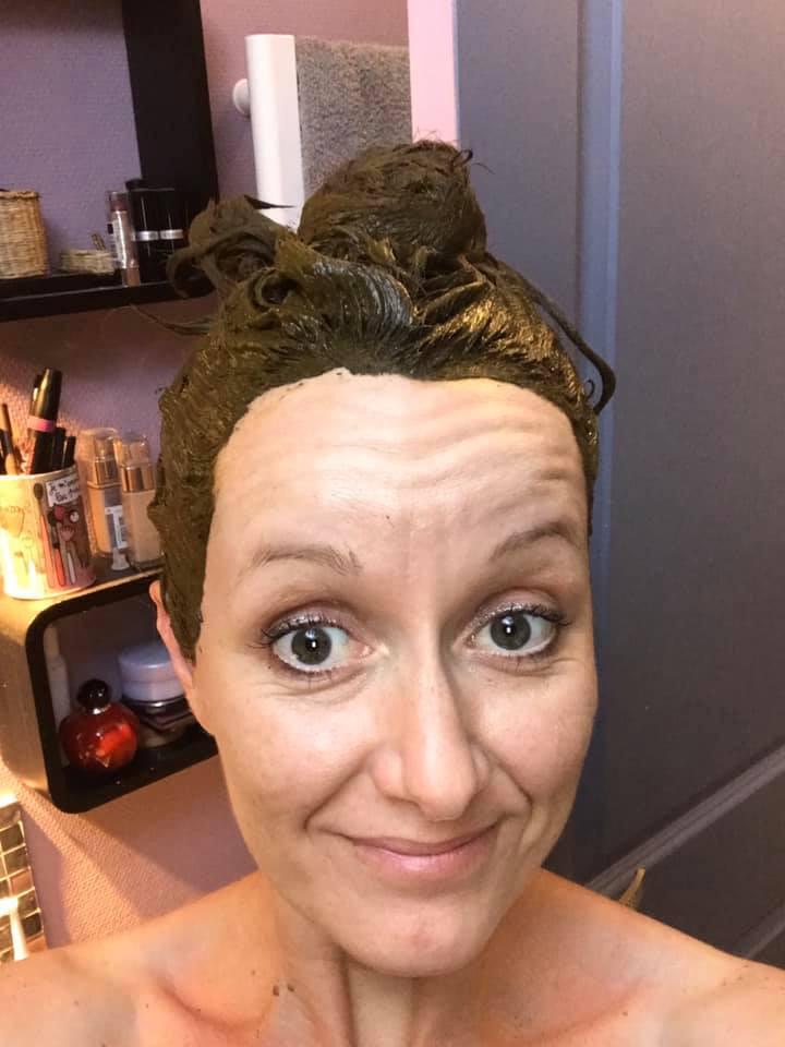 masque pour les cheveux à base de plante