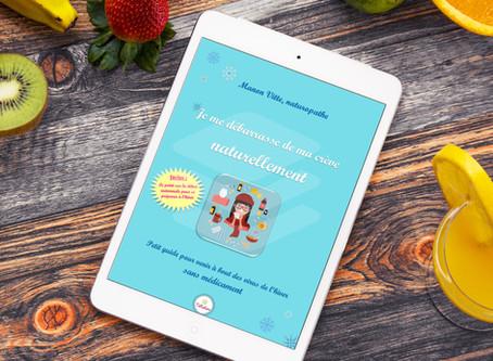 """Promotion sur mon E-book """"Je me débarrasse de ma crève naturellement"""""""