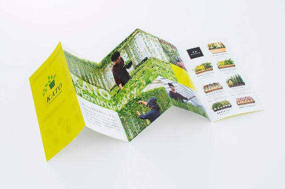 植物農園蛇腹パンフレット