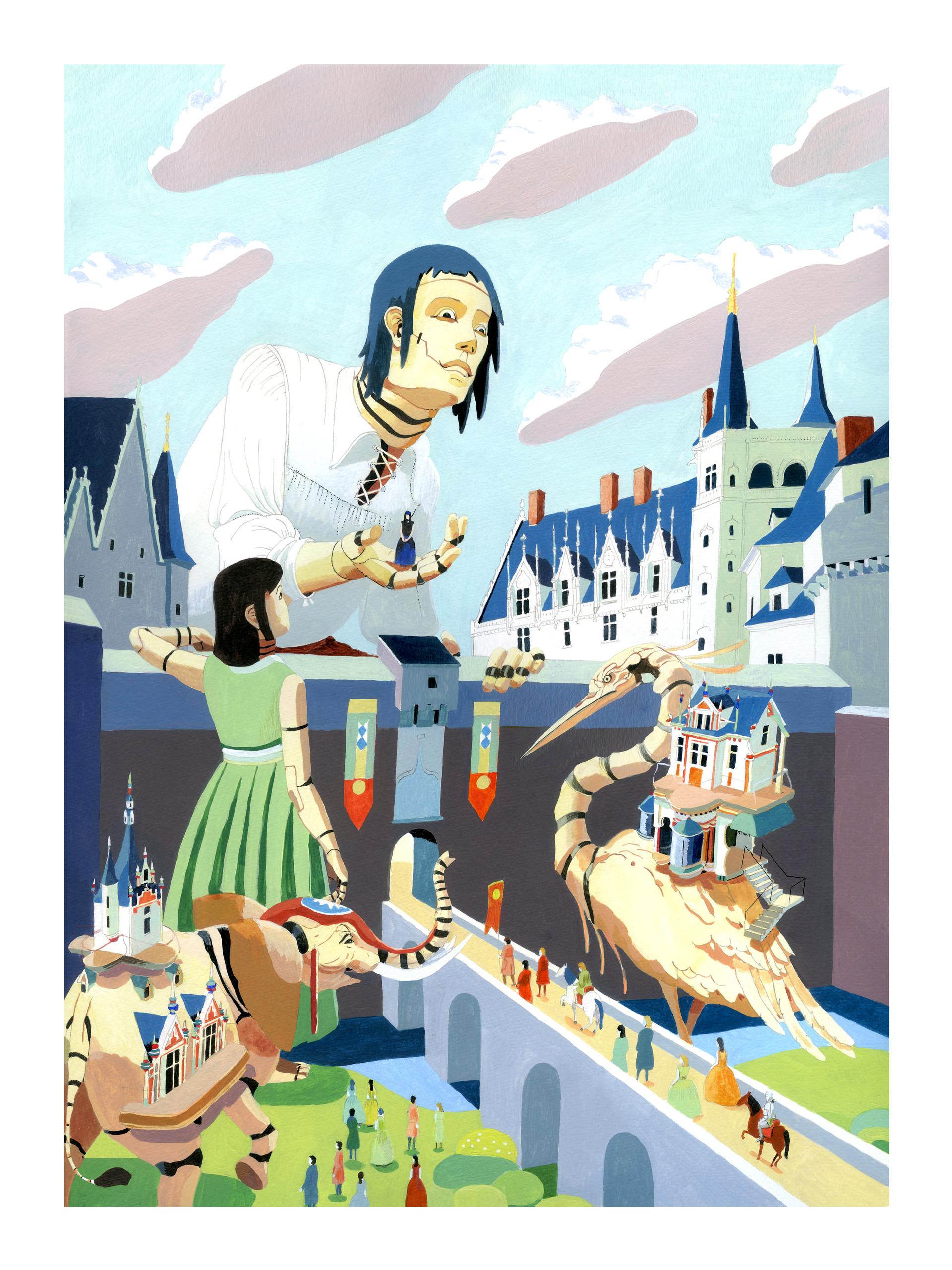 chateaux des ducs, duchesses et ses automates